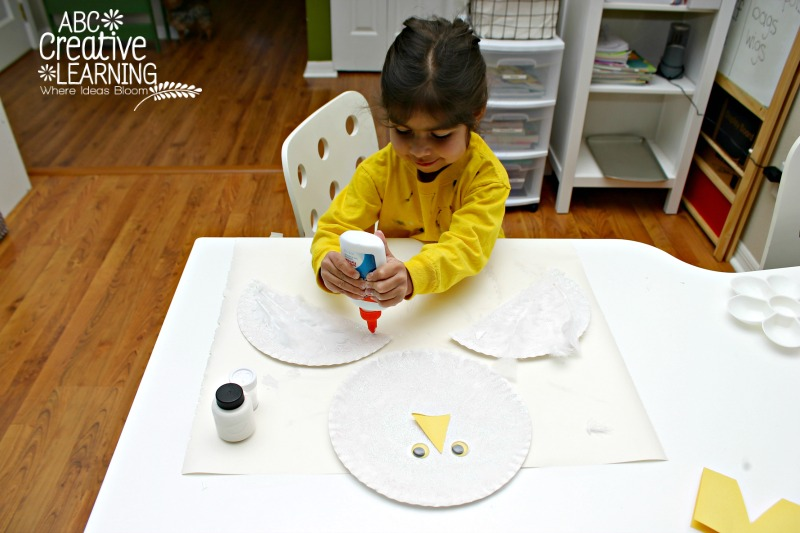 Paper Plate Kids Craft Snowy Owl