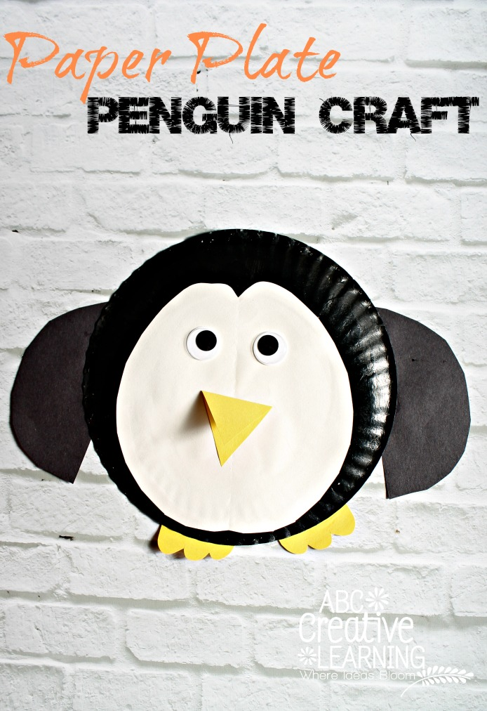 Paper Plate Penguin Kids Craft! An easy and fun craft perfect while studying the arctic!