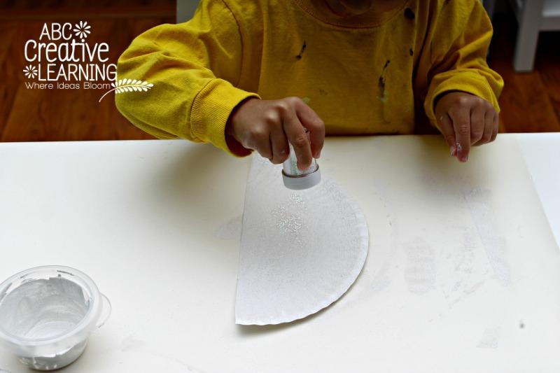 Paper Plate Snowy Glitter Owl Kids Craft