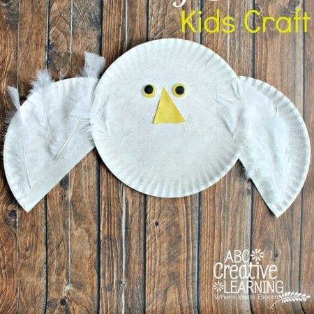 Paper Plate Snowy Owl Kids Craft