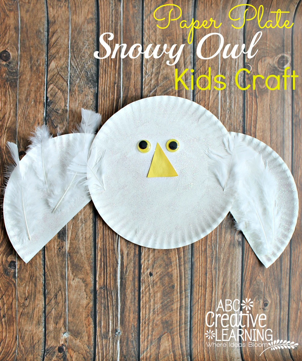 Paper Plate Snowy Owl Kids Craft