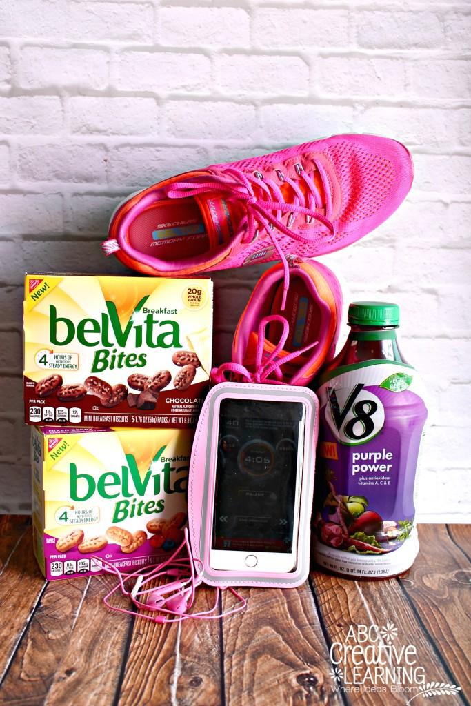 Training for the Princess Run with Belvita Bites and V8 Veggie Blend Breakfast Energy