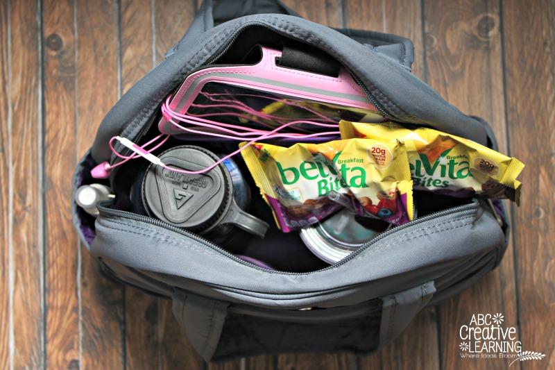 Training for the Princess Run with Belvita Bites and V8 Veggie Blend Gym Bag Essentials