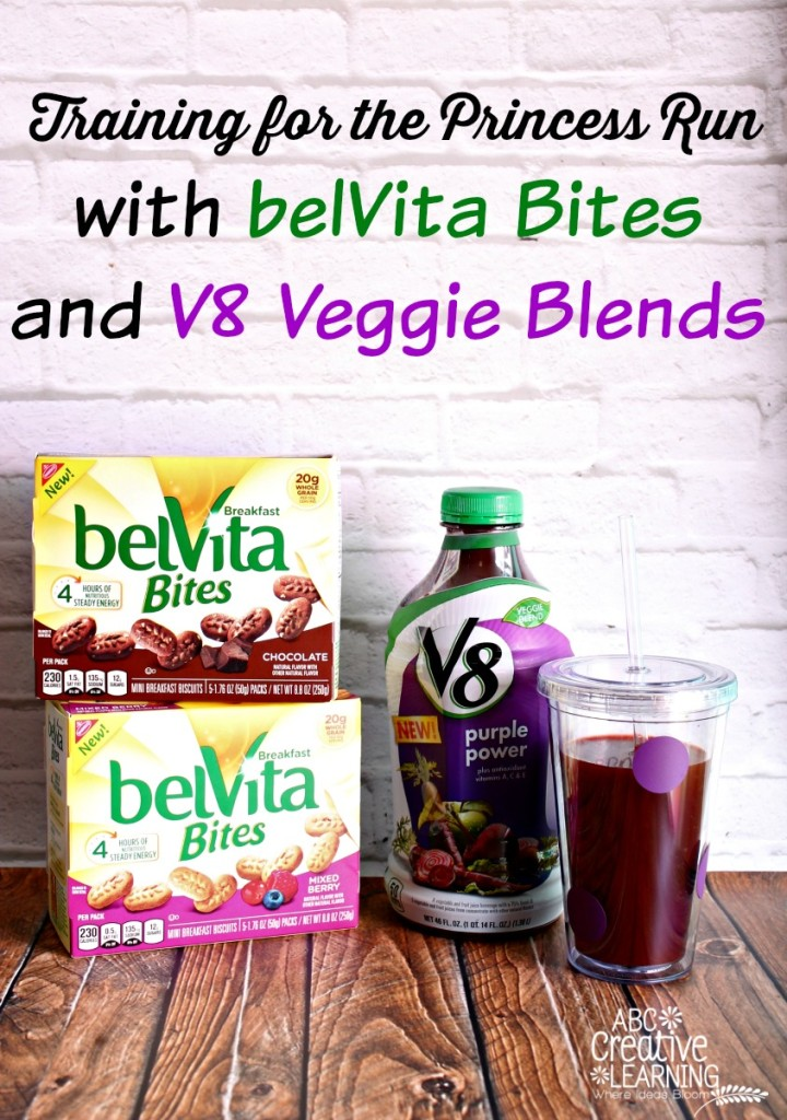 Training for the Princess Run with belVita Bites and V8 Veggie Blends