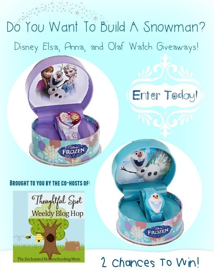 Do You Want To Build A Snowman? Win a Disney Elsa/Anna or Olaf Watch!