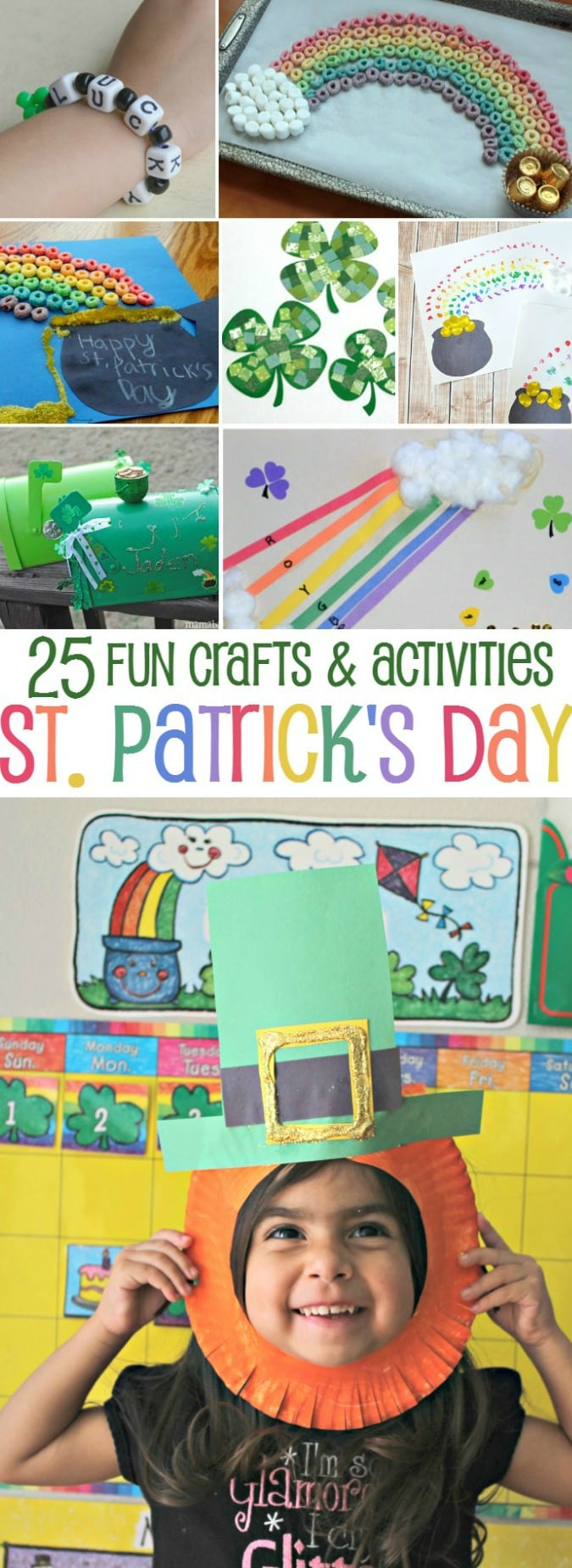Looking for some fun St. Patrick's Day ideas for kids? Check out these 25 Fun Crafts and Activities for St. Patrick's Day kids will love! - simplytodaylife.com