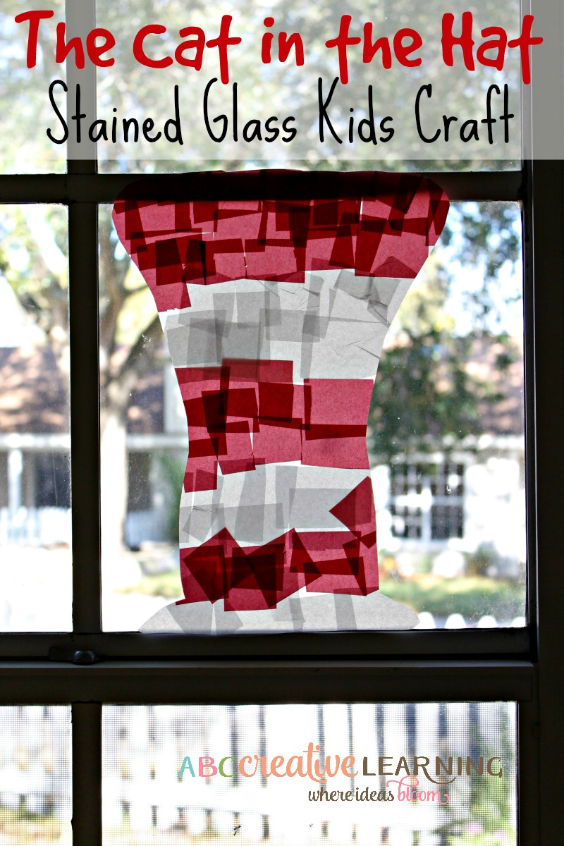 The Cat In The Hat Stained Glass Craft For Kids