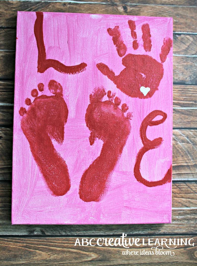 Valentine S Day Kids Handprint And Footprint Craft