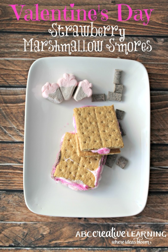 Valentine's Day Strawberry Marshmallow S'mores