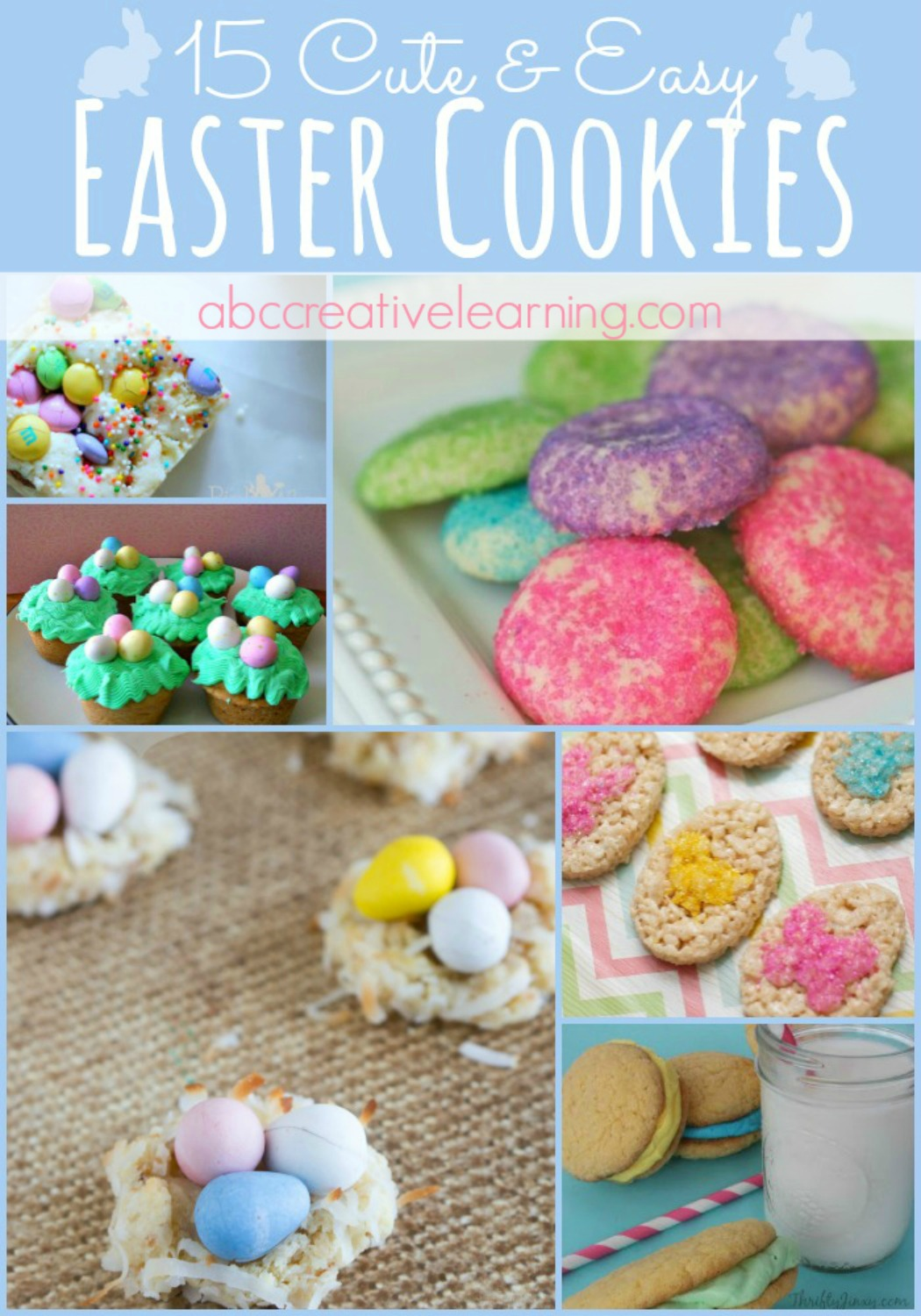 15 Cute and Easy Easter Cookies - abccreativelearning.com