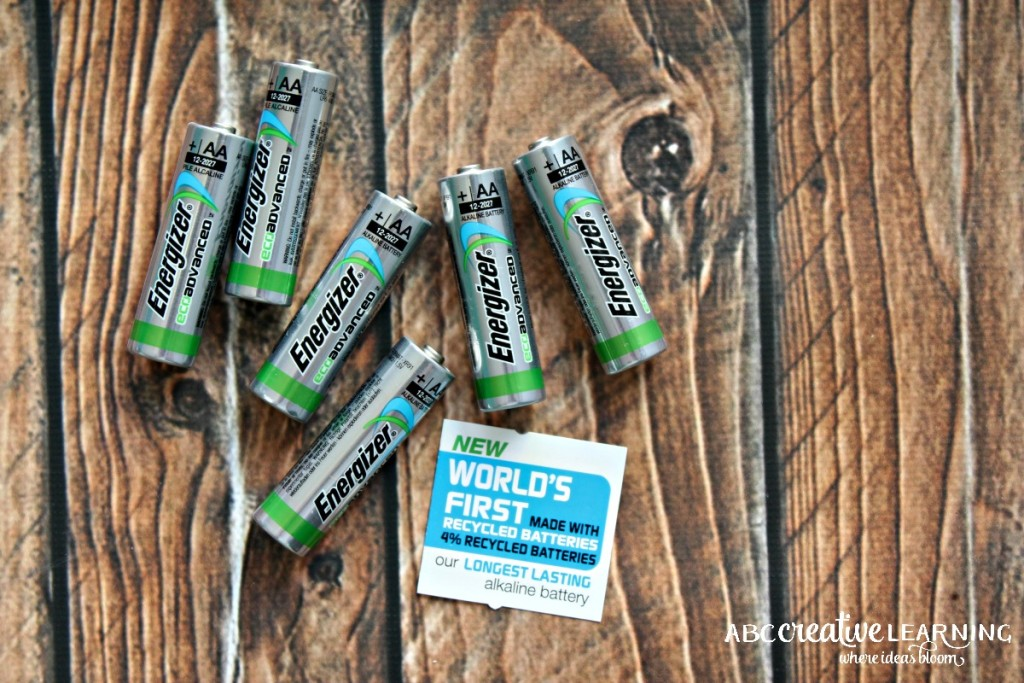 Creating Kids Crafts with Reusable Materials Energizer EcoAdvanced Recycled Batteries