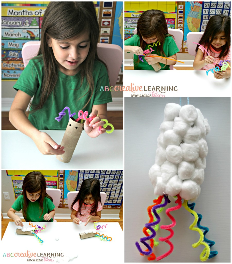 Creating Kids Crafts with Reusable Materials Spring Craft