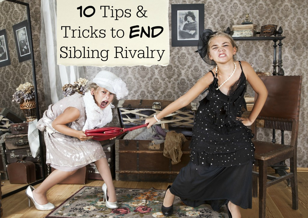 Tired of listening to your kids bicker and argue? Here are 10 Tips and Tricks to END Sibling Rivalry and help you have a more peaceful home. - abccreativelearning.com