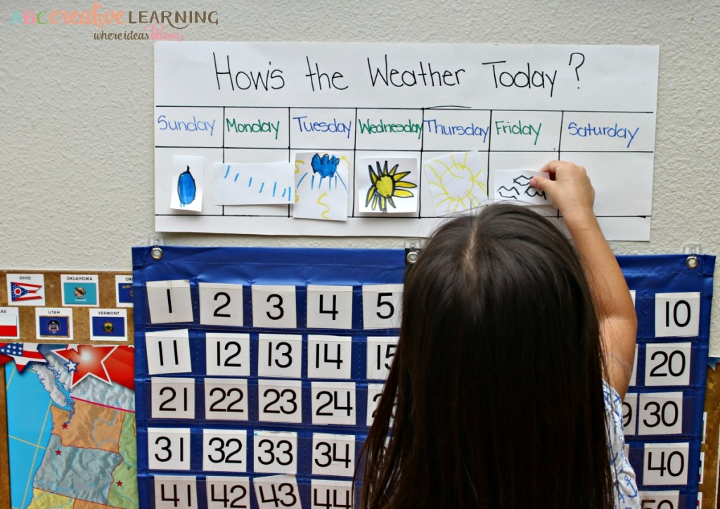 Morning Calendar and Weather Create Your Own Weather Chart