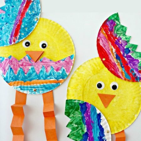 Paper Plate Easter Chick Craft For Kids