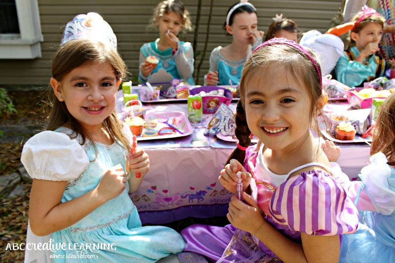 Hosting a Princess Tea Party #DisneySide Celebration Cousins