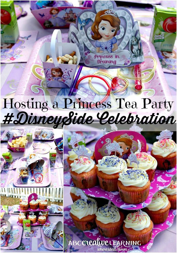 Hosting a Princess Tea Party #DisneySide Celebration