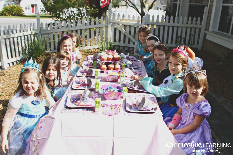 Hosting a Princess Tea Party #DisneySide Celebration Tea Time