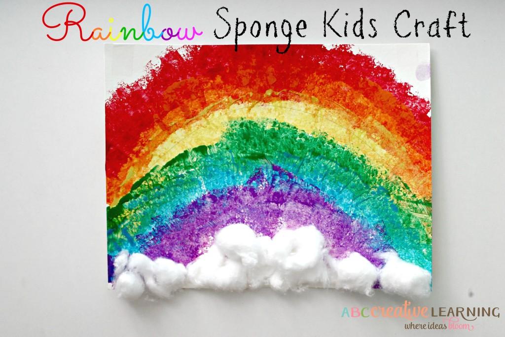 Rainbow Sponge Kids Craft