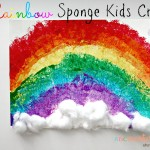Rainbow Sponge Kids Craft