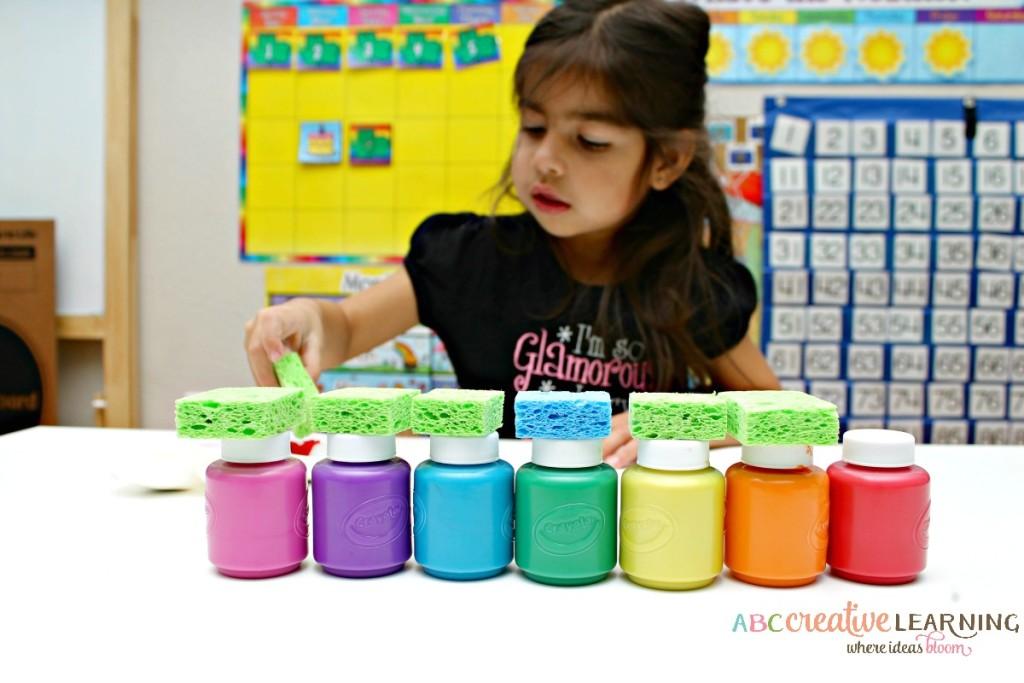 Rainbow Sponge Kids Craft Paint