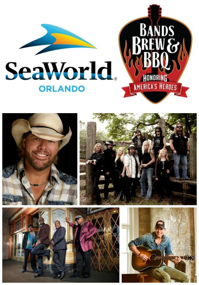 SeaWorld Orlando's Bands, Brew & BBQ Festival Performers