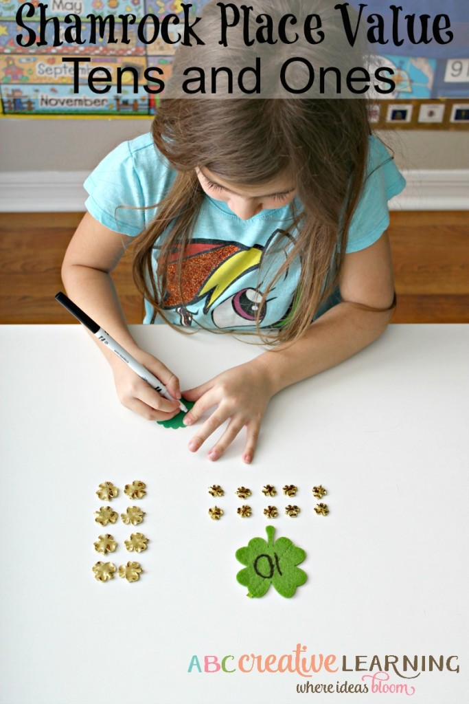 Shamrock Place Value - Tens and Ones