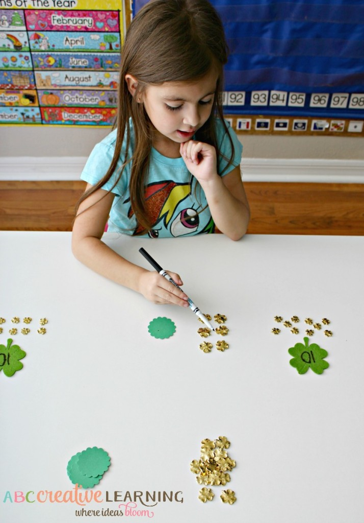 Shamrock Place Value - Tens and Ones Counting