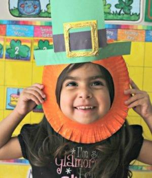 St. Patrick's Day Leprechaun Kids Craft sq