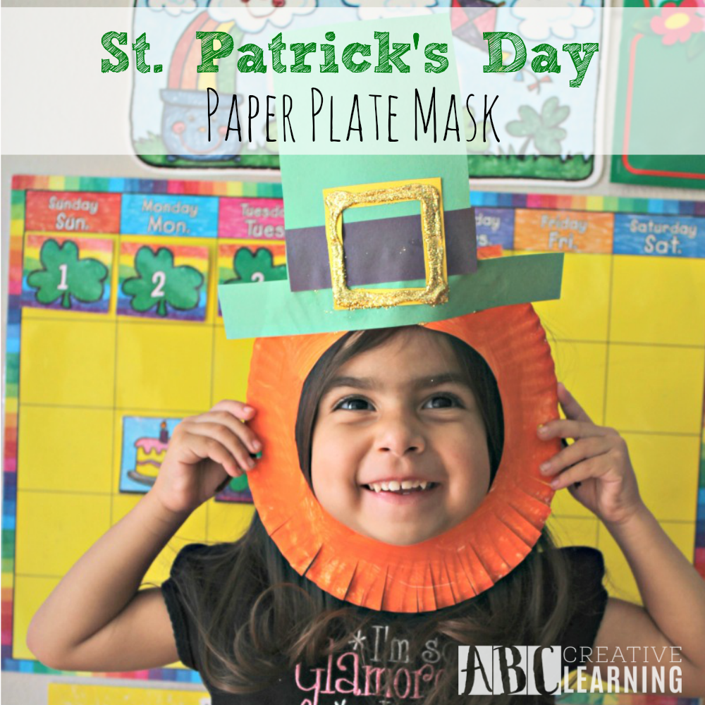 sc 1 st  Simply Today Life & St. Patricku0027s Day Craft Leprechaun Paper Plate Mask