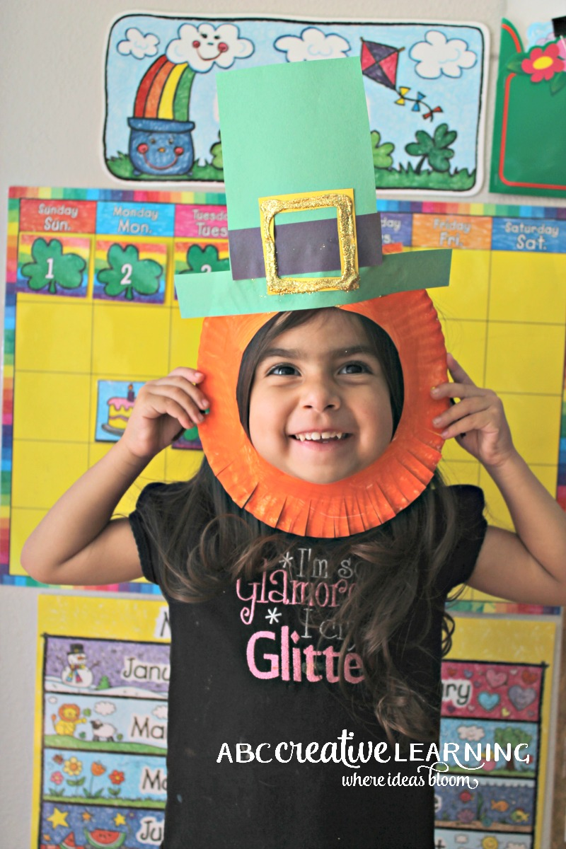 St. Patrick's Day Leprechaun Paper Plate Mask for Kids
