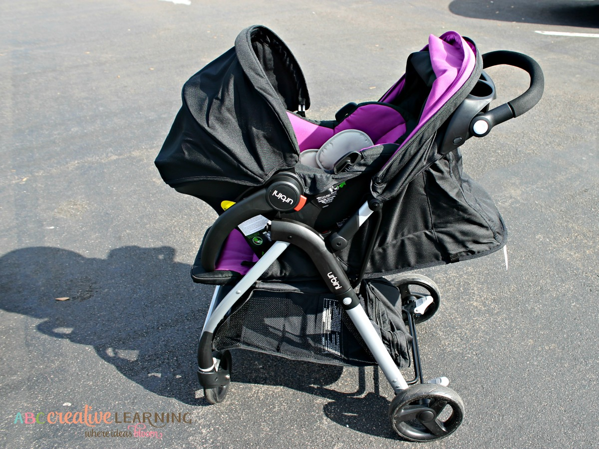 Styling in the #Urbini Emi Luxery Travel System Stroller with Lightweight Baby Car Seat
