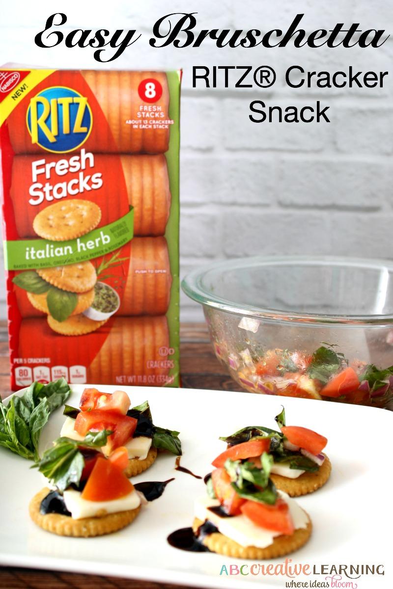 Easy Bruschetta RITZ® Cracker Snack