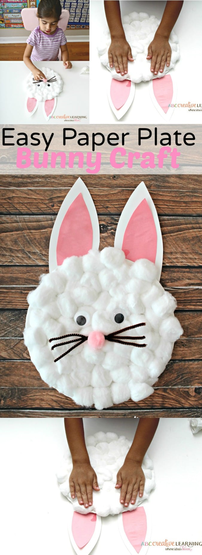 easy paper bunny craft easy paper plate bunny craft for 4371