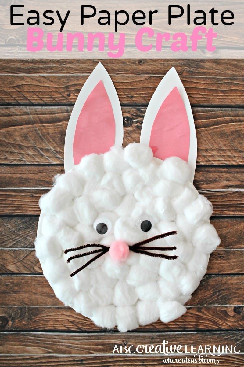Easy easter bunny crafts - Easy Paper Plate Bunny Craft For Kids Great For Creatiting An Easy Easter Craft For