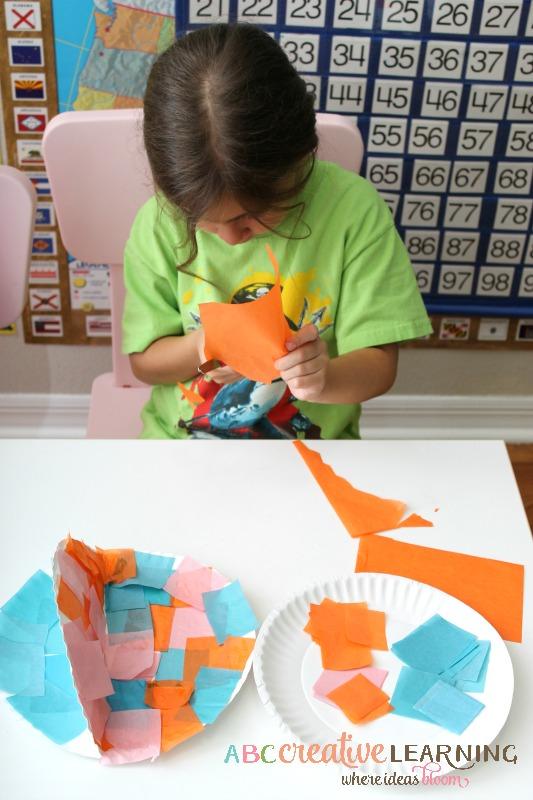 Paper Plate Fish Craft Cutting Skills