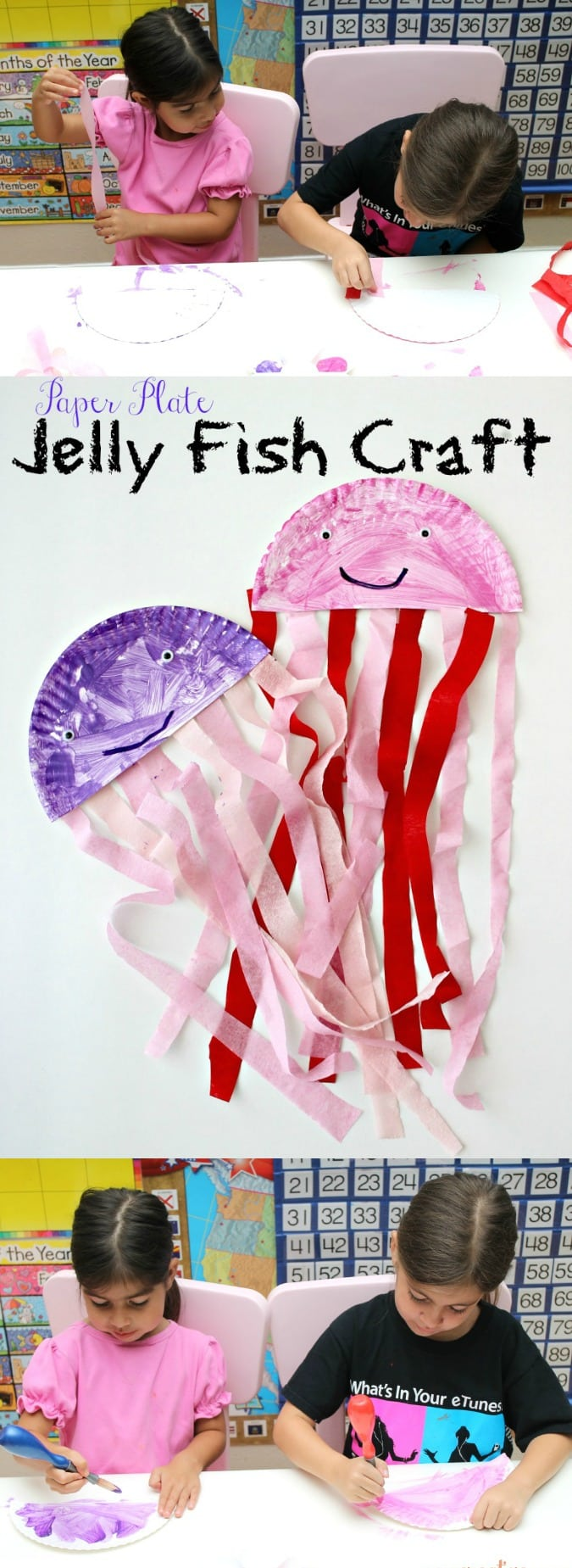 Paper Plate Jelly Fish Craft For Kids