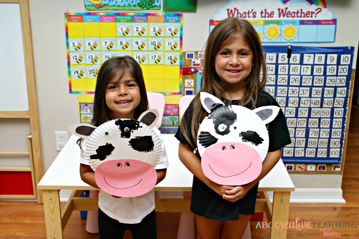 Click, Clack, Moo Cows That Type Cow Paper Plate Mask Kids Craft
