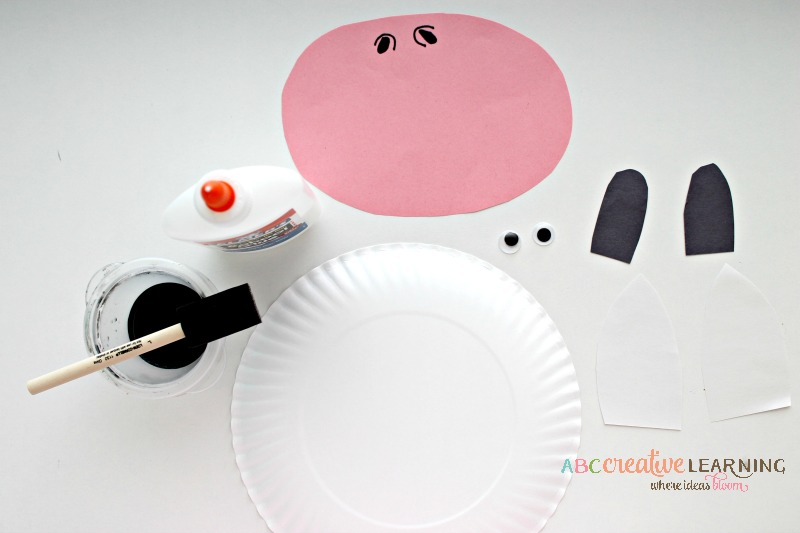 Click, Clack, Moo Cows That Type Cow Paper Plate Mask Materials