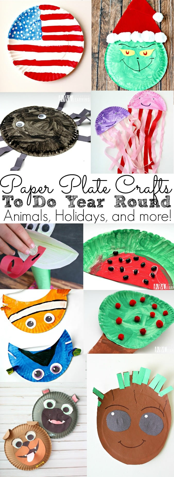 Paper Plate Crafts To Do All Year Long