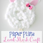 Paper Plate Lamb Mask Craft