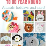 Paper Plate Crafts To Do Year Round – Animals, holidays, and more!