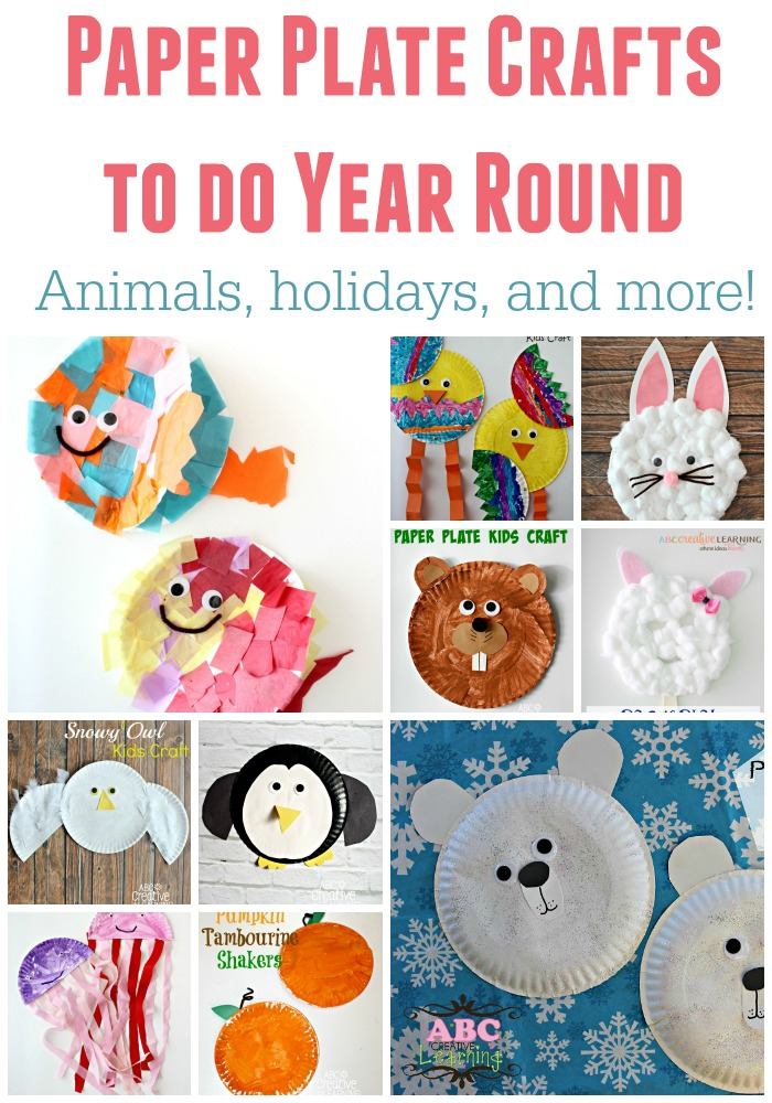Paper Plate Crafts To Do Year Round