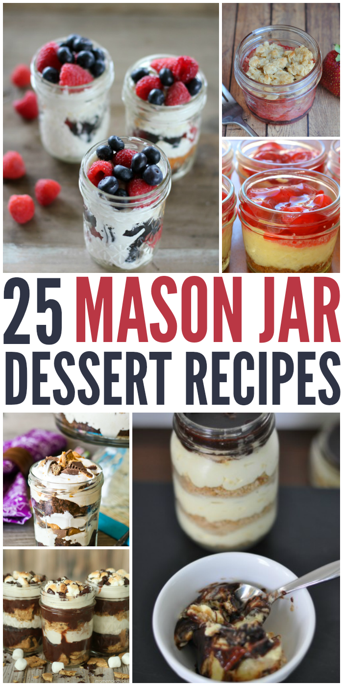 25 Mason Jar Dessert Recipes