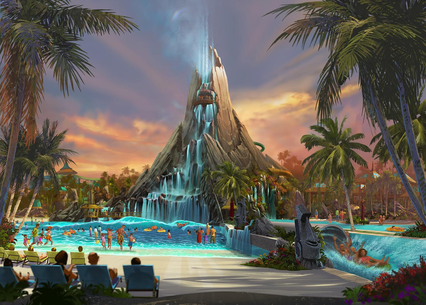 Universal Orlando Resort is bringing to life an entirely new water theme park experience – Volcano Bay at Universal Orlando Resort. It will join Universal Studios Florida and Universal's Islands of Adventure and become the resort's third incredibly immersive park, opening in 2017.Universal's Volcano Bay will be a place for the entire family. It will offer radically innovative, thrilling attractions, peaceful moments of relaxation and an inspired guest experience that will forever change the perception of water theme parks.  It will be set in a highly themed, completely immersive environment inspired by postcard-perfect tropical islands.  And it will be the kind of special place that only the Universal team – the same team that has changed the face of Universal Orlando Resort in recent years - can envision and create.© 2015 Universal Orlando Resort. All rights reserved.