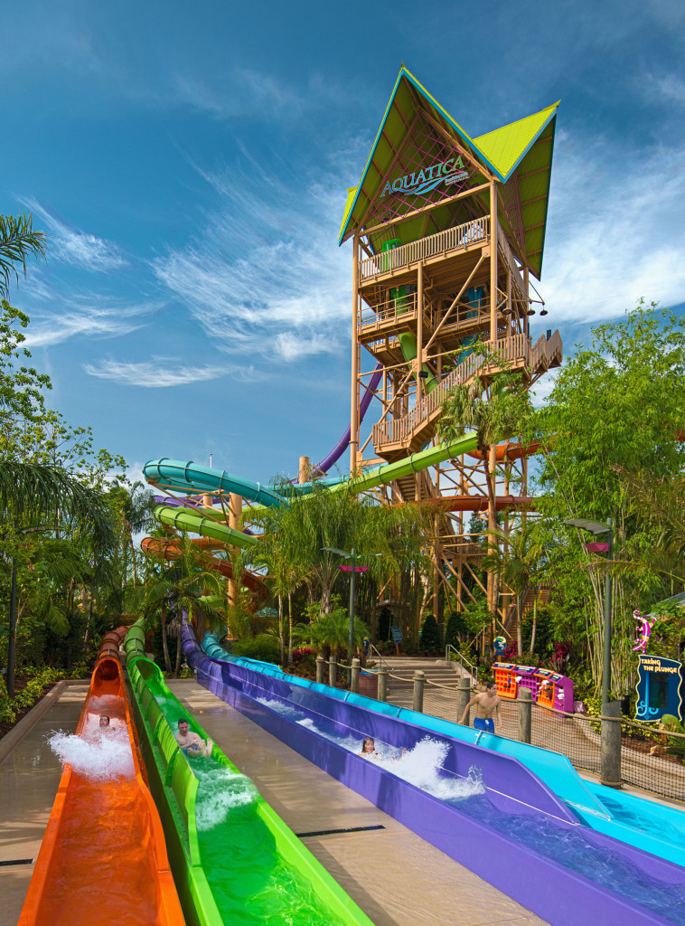 New Night Time Activities At SeaWorld Orlando and Aquatica, SeaWorld's Waterpark Breakaway Falls Now Open at Aquatica Orlando - slideout