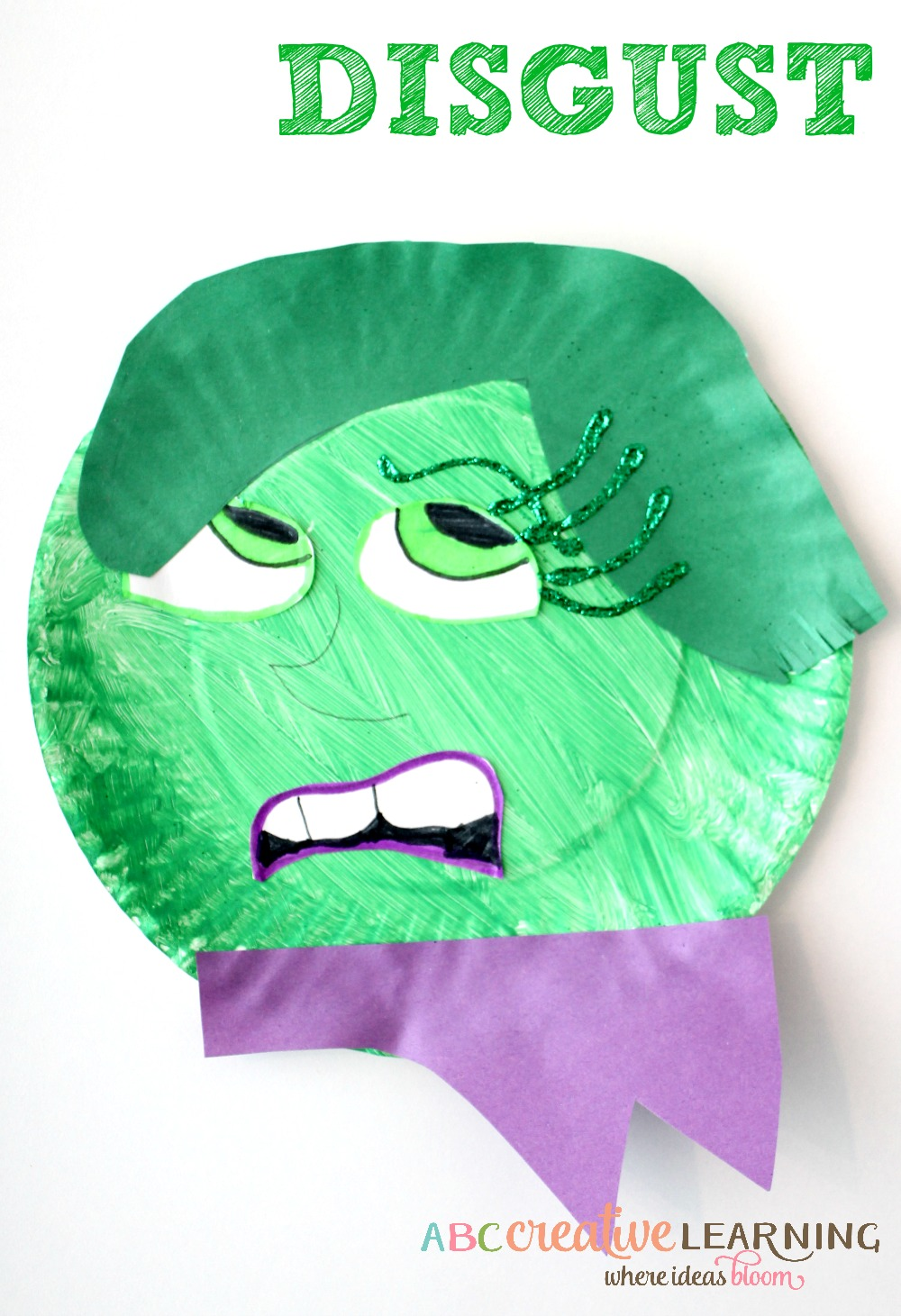 Inside Out Inspired Kids Craft Disgust