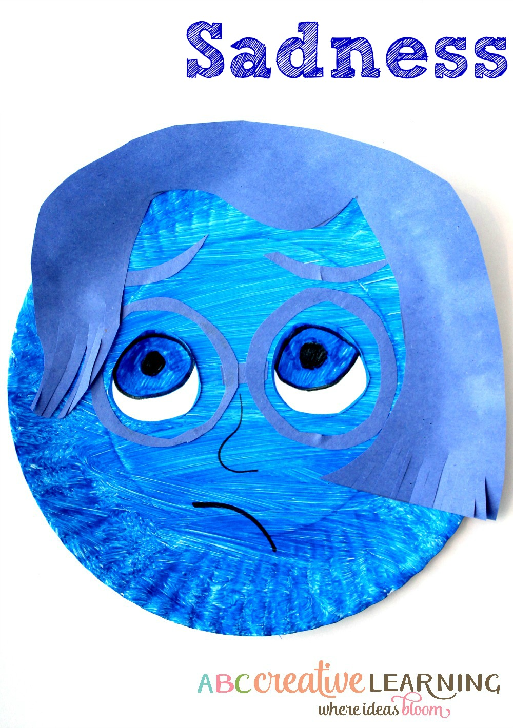 Inside Out Inspired Kids Craft Sadness