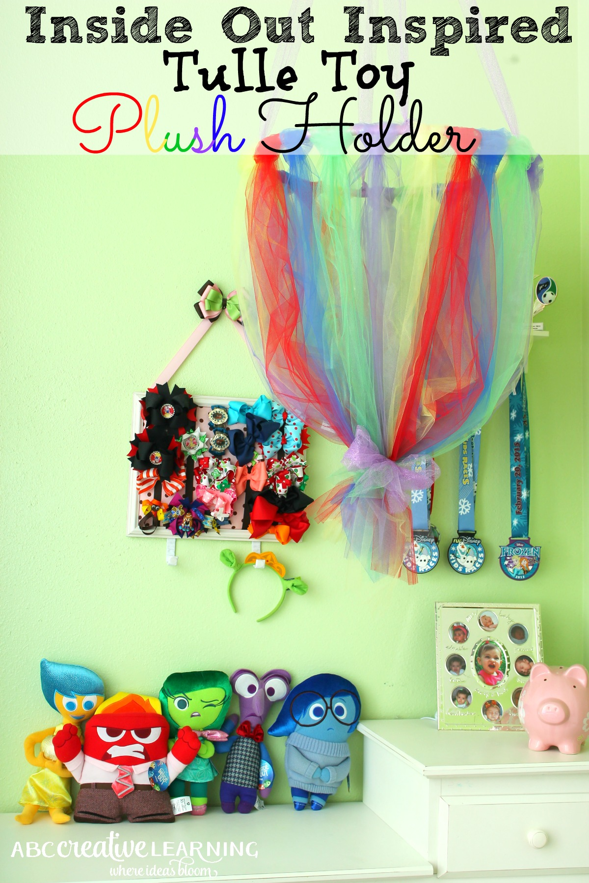 Inside Out Inspired Tulle Toy Plush Holder Tutorial