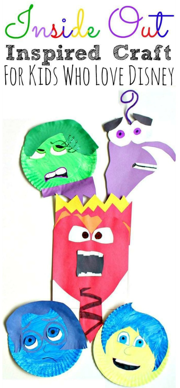 Inside Out Paper Plate Craft For Kids